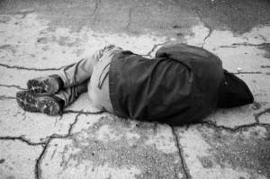 Child Sleeping on the Street